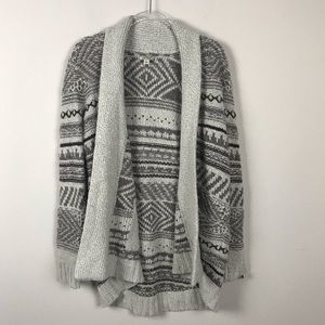 Lucky Brand Open Front Duster Chunky Sweater